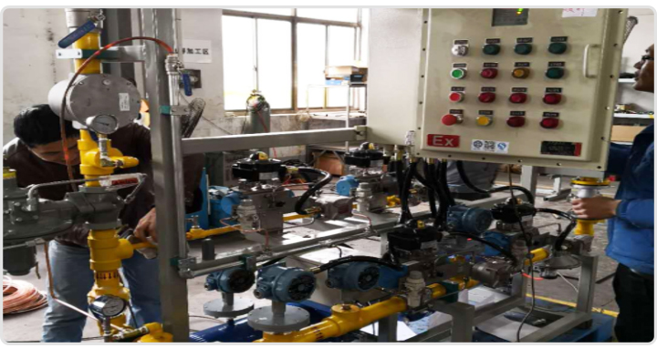 厂内组装阀组打压测试出具报告